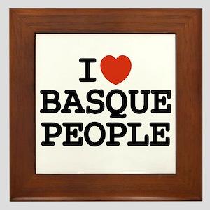 I [heart] Basque People Framed Tile